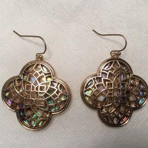 Jewelry - Abalone and Filigree Earrings